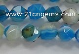CNG6524 15.5 inches 6mm faceted nuggets line agate beads