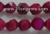 CNG6536 15.5 inches 10mm faceted nuggets red tiger eye beads