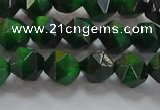 CNG6546 15.5 inches 6mm faceted nuggets green tiger eye beads