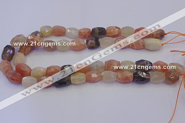 CNG6898 12*16mm - 13*18mm faceted nuggets mixed moonstone beads