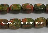 CNG708 15.5 inches 10*14mm nuggets unakite beads wholesale
