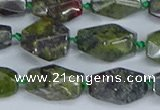 CNG7141 6*10mm - 10*14mm faceted nuggets dragon blood jasper beads