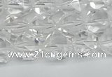CNG7211 15.5 inches 8mm faceted nuggets white crystal beads