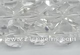 CNG7213 15.5 inches 12mm faceted nuggets white crystal beads