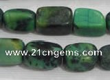 CNG727 15.5 inches 15*20mm nuggets pine turquoise beads wholesale
