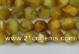 CNG7305 15.5 inches 6mm faceted nuggets golden tiger eye beads