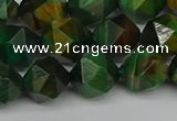 CNG7327 15.5 inches 10mm faceted nuggets green tiger eye beads