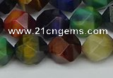 CNG7333 15.5 inches 12mm faceted nuggets mixed tiger eye beads