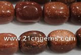 CNG740 15.5 inches 15*20mm nuggets goldstone beads wholesale
