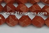 CNG7402 15.5 inches 10mm faceted nuggets goldstone beads
