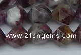 CNG7412 15.5 inches 10mm faceted nuggets tourmaline beads