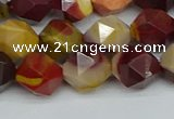 CNG7427 15.5 inches 10mm faceted nuggets mookaite beads
