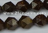 CNG7443 15.5 inches 12mm faceted nuggets bronzite gemstone beads