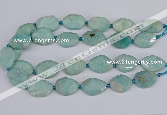 CNG7463 15.5 inches 20*25mm - 25*35mm faceted freeform amazonite beads