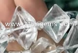 CNG7700 13*20mm - 15*25mm faceted freeform white crystal beads