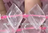 CNG7701 13*20mm - 15*25mm faceted freeform rose quartz beads