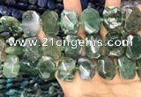 CNG7783 15.5 inches 13*18mm - 15*25mm faceted freeform moss agate beads