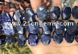 CNG7788 15.5 inches 13*18mm - 15*25mm faceted freeform sodalite beads