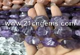CNG7802 15.5 inches 13*18mm - 18*25mm faceted freeform amethyst beads