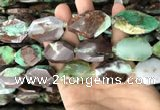 CNG7832 20*28mm - 25*35mm faceted freeform Australia chrysoprase beads