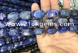 CNG7850 15.5 inches 12*16mm - 15*20mm faceted nuggets lapis lazuli beads