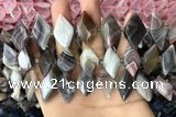 CNG7877 13*20mm - 15*25mm faceted freeform Botswana agate beads
