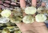 CNG7910 22*30mm - 25*35mm faceted freeform yellow opal beads