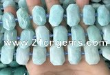 CNG7921 15.5 inches 13*18mm - 15*25mm faceted freeform amazonite beads