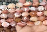 CNG7994 12*16mm - 13*18mm faceted nuggets pink Botswana agate beads