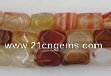 CNG800 15.5 inches 8*12mm faceted nuggets agate gemstone beads