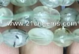 CNG8008 15.5 inches 6*8mm nuggets green rutilated quartz beads