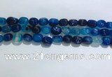 CNG8121 15.5 inches 8*12mm nuggets agate beads wholesale