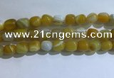 CNG8131 15.5 inches 8*12mm nuggets striped agate beads wholesale