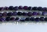 CNG8132 15.5 inches 8*12mm nuggets striped agate beads wholesale