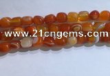 CNG8134 15.5 inches 8*12mm nuggets striped agate beads wholesale