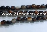 CNG8143 15.5 inches 8*12mm nuggets striped agate beads wholesale