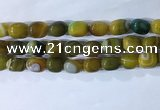 CNG8236 15.5 inches 12*16mm nuggets striped agate beads wholesale
