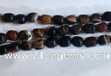 CNG8239 15.5 inches 12*16mm nuggets striped agate beads wholesale