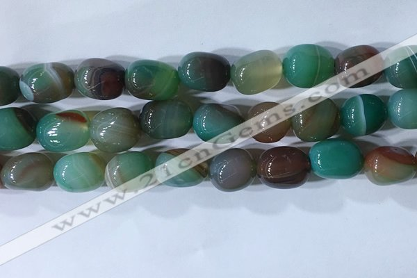 CNG8275 15.5 inches 13*18mm nuggets striped agate beads wholesale