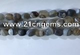 CNG8277 15.5 inches 13*18mm nuggets striped agate beads wholesale