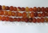 CNG8347 15.5 inches 10*12mm nuggets striped agate beads wholesale