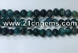 CNG8350 15.5 inches 10*12mm nuggets striped agate beads wholesale