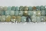 CNG8618 10*13mm - 12*16mm faceted freeform amazonite beads