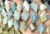 CNG8644 13*20mm - 15*25mm faceted freeform amazonite beads