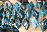 CNG8648 13*20mm - 15*25mm faceted freeform apatite beads