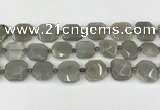 CNG8809 15.5 inches 16mm - 20mm faceted freeform moonstone beads