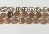 CNG8812 15.5 inches 16mm - 20mm faceted freeform moonstone beads