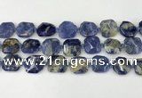 CNG8819 15.5 inches 16mm - 20mm faceted freeform sodalite beads