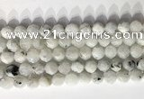 CNG9066 15.5 inches 10mm faceted nuggets white moonstone gemstone beads