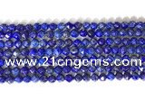 CNG9099 15.5 inches 6mm faceted nuggets lapis lazuli beads
